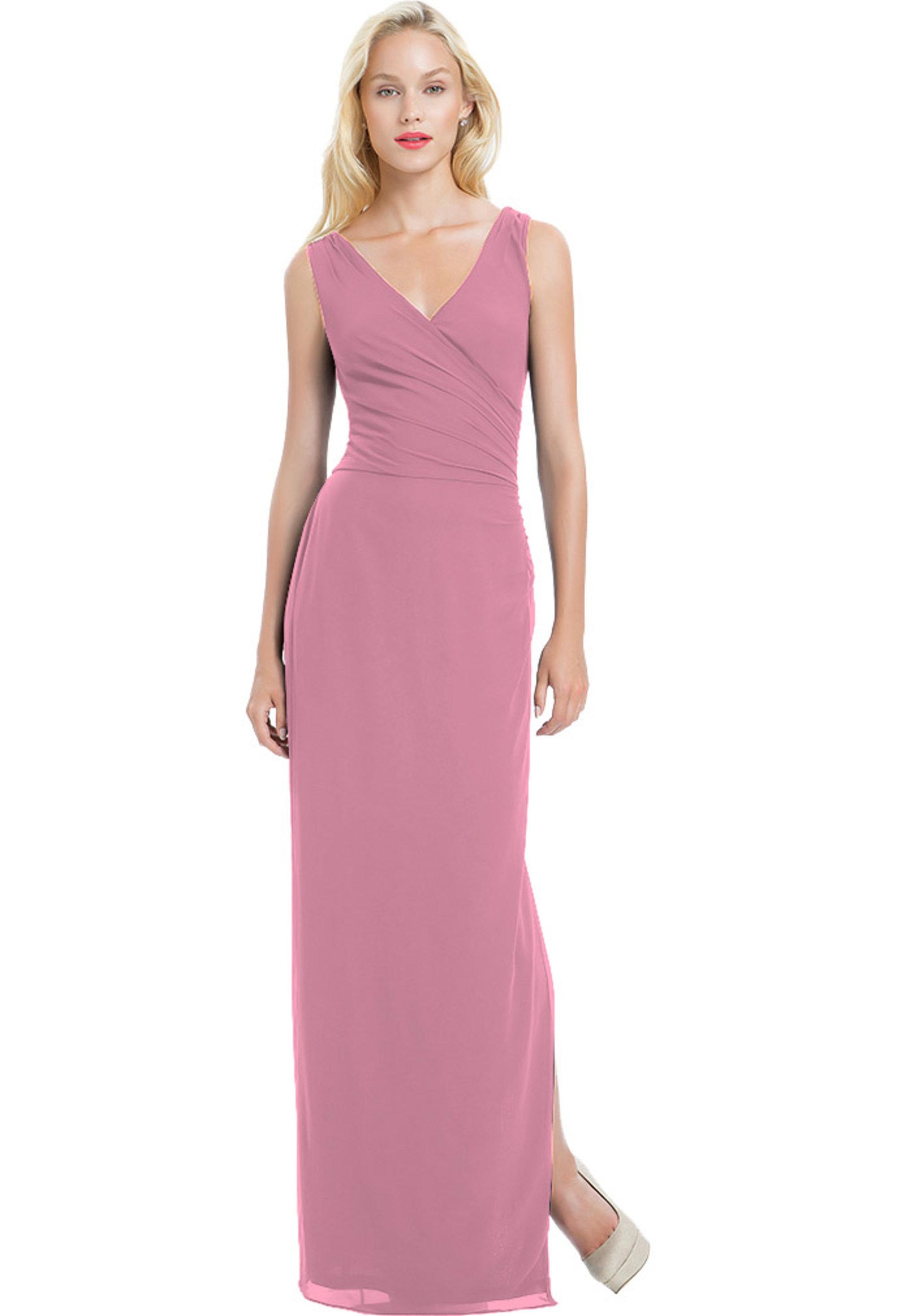 Bill Levkoff ROSEPETAL Chiffon Sleeveless Side Slit gown, $190.00 Front