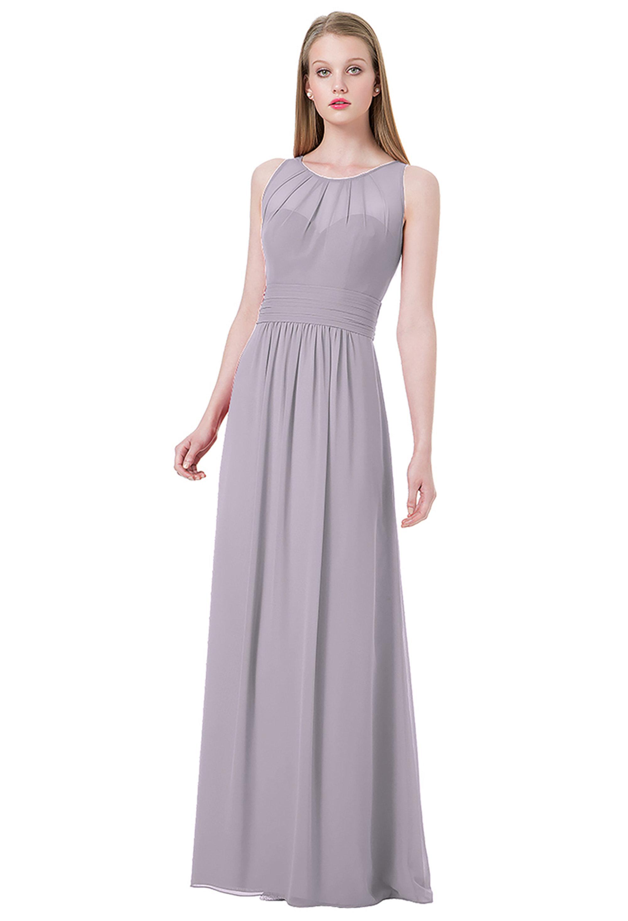 Bill Levkoff VIOLET Chiffon Jewel A-line gown, $220.00 Front