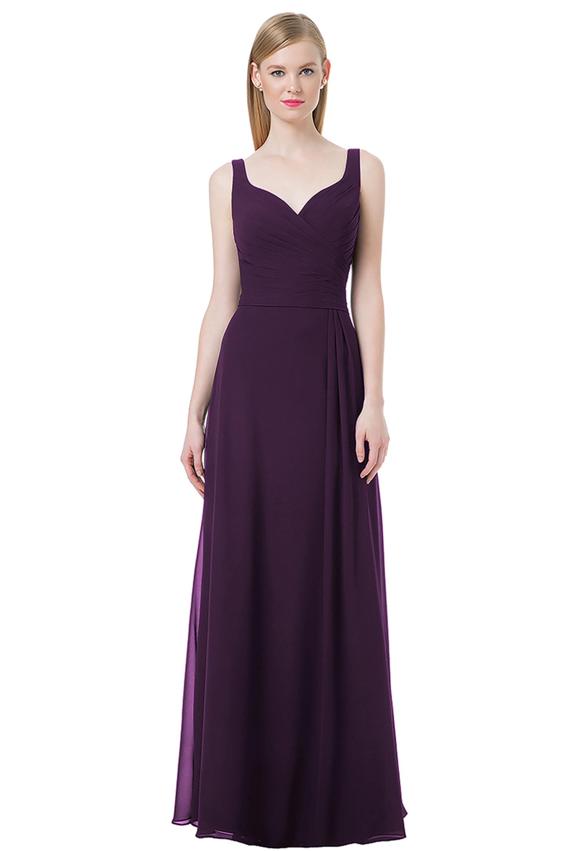 Bill Levkoff PLUM Chiffon Sweetheart A-line gown, $220.00 Front