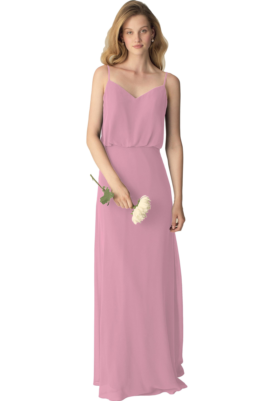 Bill Levkoff ROSEPETAL Chiffon Slight V-front A-line gown, $190.00 Front