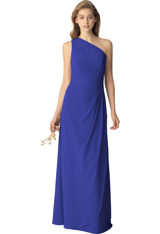 Bill Levkoff HORIZON Chiffon One Shoulder A-line gown, $210.00 Front