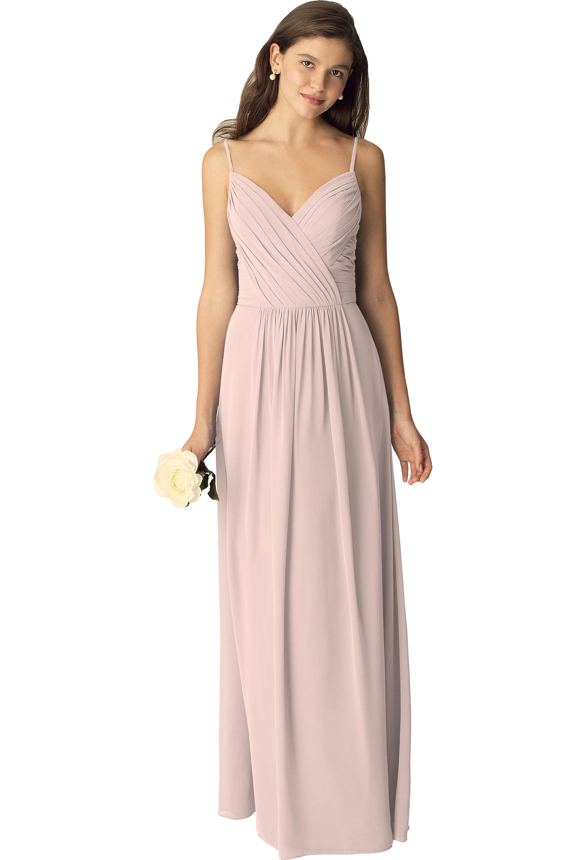 Bill Levkoff PETAL PINK Chiffon Sweetheart A-line gown, $210.00 Front