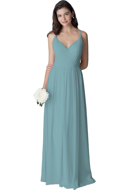 Bill Levkoff GLACIER Chiffon Sleeveless A-line gown, $210.00 Front