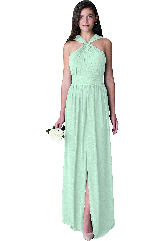 Bill Levkoff MINT Chiffon Sleeveless A-line gown, $210.00 Front