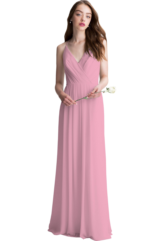Bill Levkoff ROSEPETAL Chiffon V-neck A-line gown, $200.00 Front