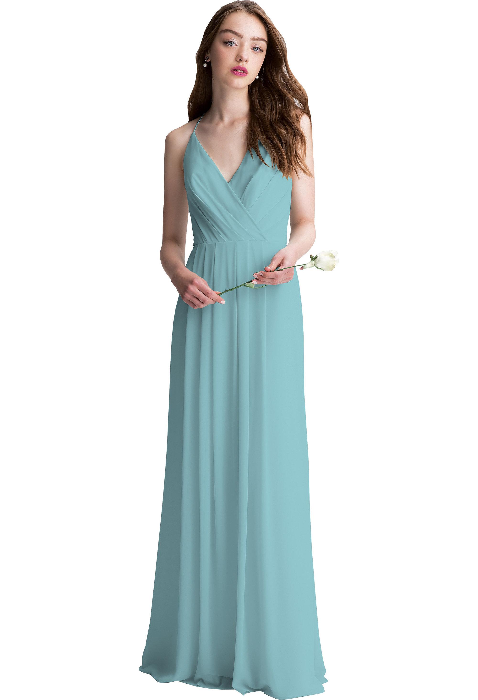 Bill Levkoff GLACIER Chiffon V-neck A-line gown, $200.00 Front