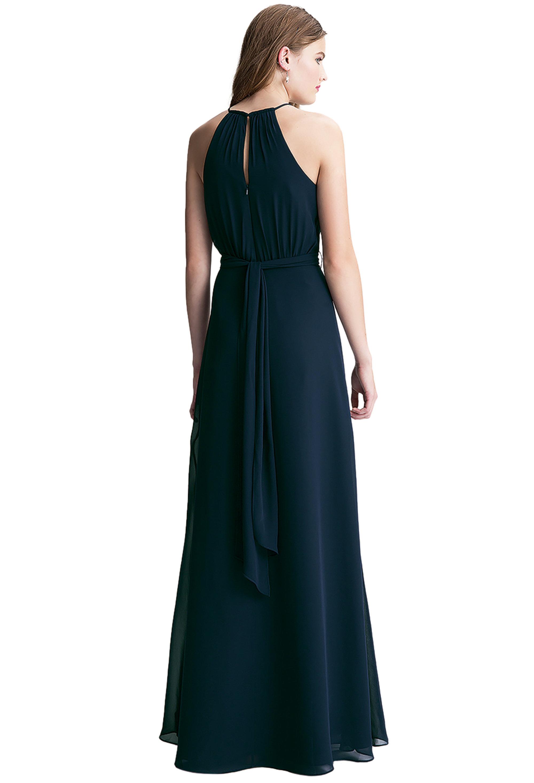 Bill Levkoff MINT Chiffon Keyhole A-line gown, $200.00 Back