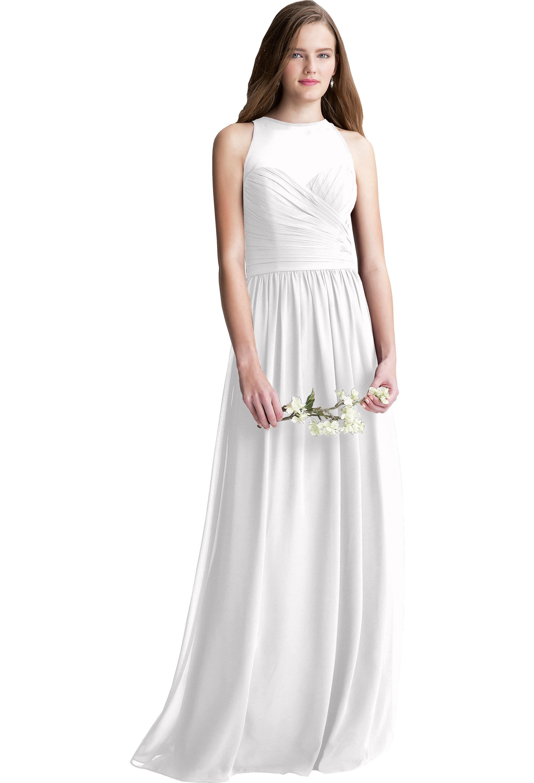 Bill Levkoff WHITE Chiffon Surplice A-line gown, $220.00 Front