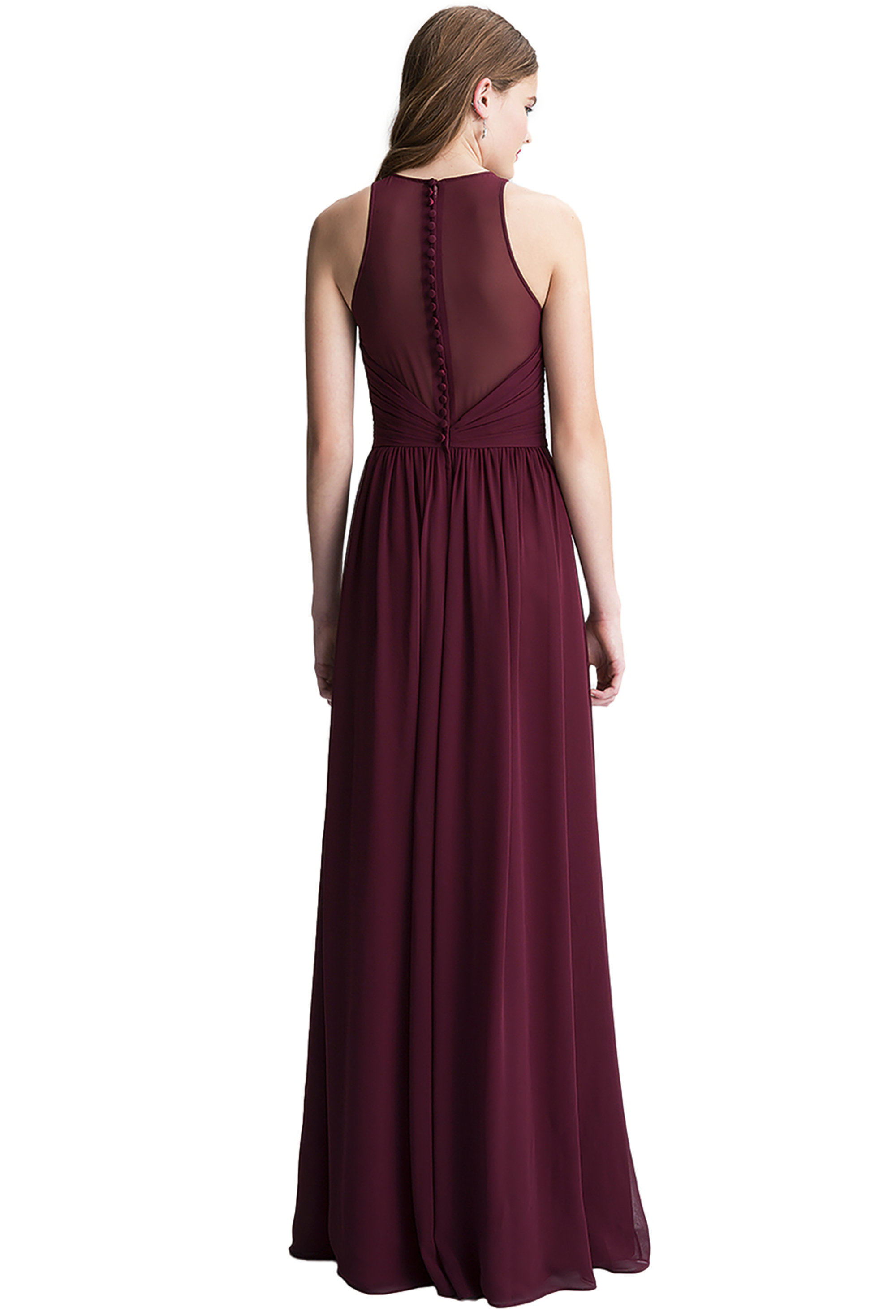Bill Levkoff CHERRY Chiffon Surplice A-line gown, $220.00 Back