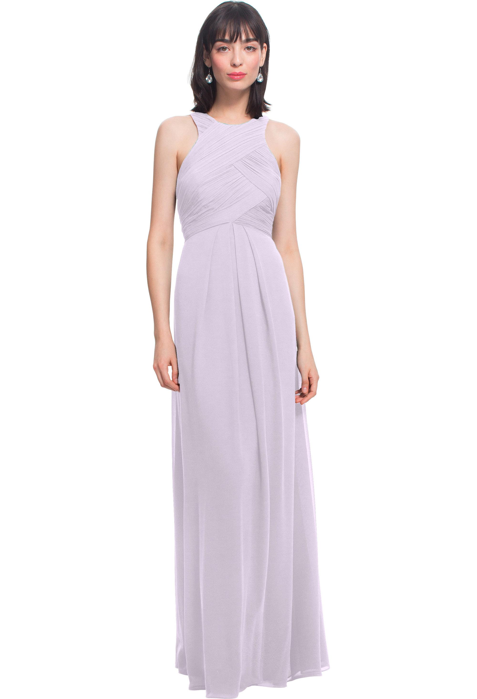 Bill Levkoff VIOLET Chiffon Jewel A-line gown, $184.00 Front
