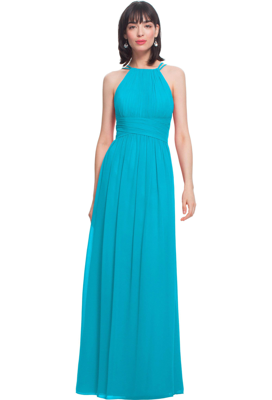 Bill Levkoff OASIS Chiffon Spaghetti Strap A-line gown, $210.00 Front