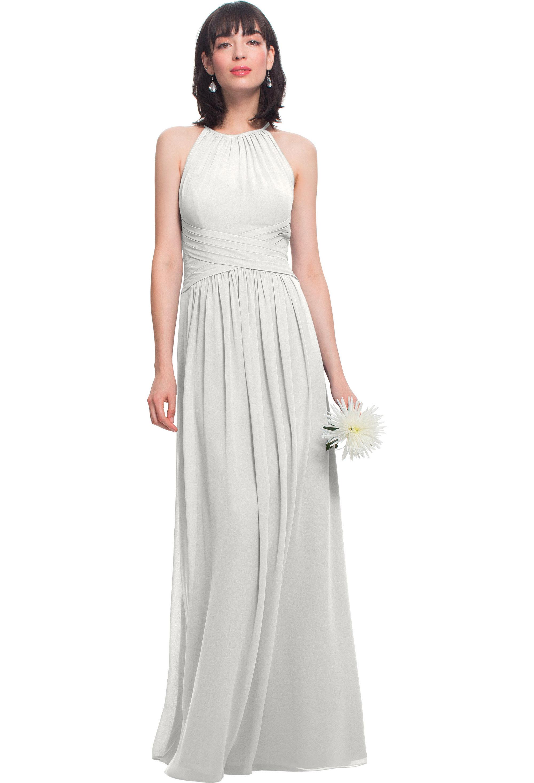 Bill Levkoff IVORY Chiffon Jewel A-line gown, $210.00 Front