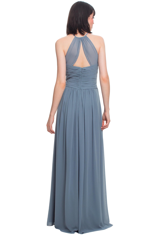 Bill Levkoff MARINE Chiffon Jewel A-line gown, $210.00 Back