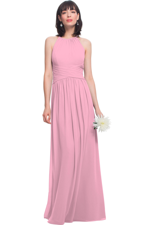 Bill Levkoff ROSEPETAL Chiffon Jewel A-line gown, $210.00 Front