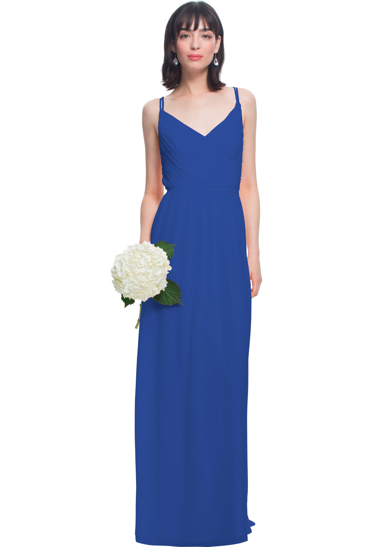 Bill Levkoff HORIZON Chiffon V-neck A-line gown, $180.00 Front