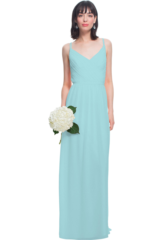 Bill Levkoff GLACIER Chiffon V-neck A-line gown, $180.00 Front
