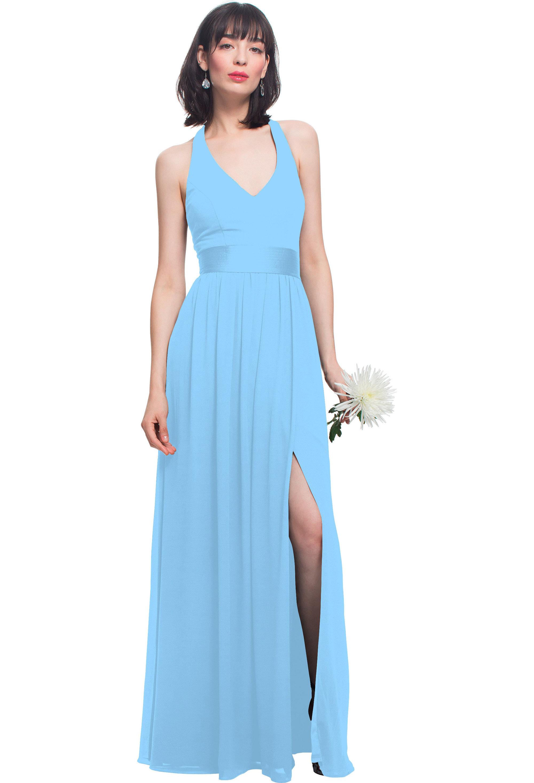 Bill Levkoff CAPRI Chiffon T-back A-line gown, $196.00 Front