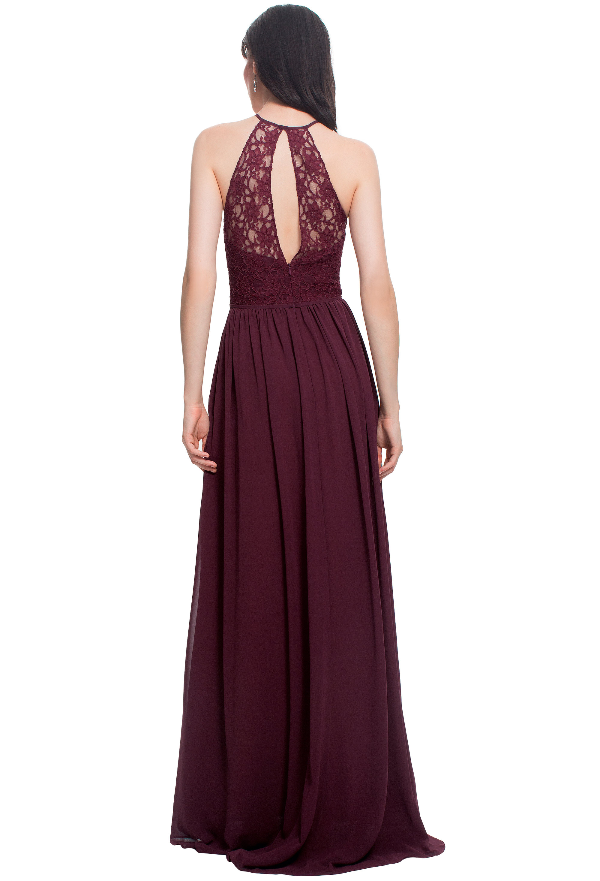 Bill Levkoff WINE Lace Sweetheart A-line gown, $220.00 Back