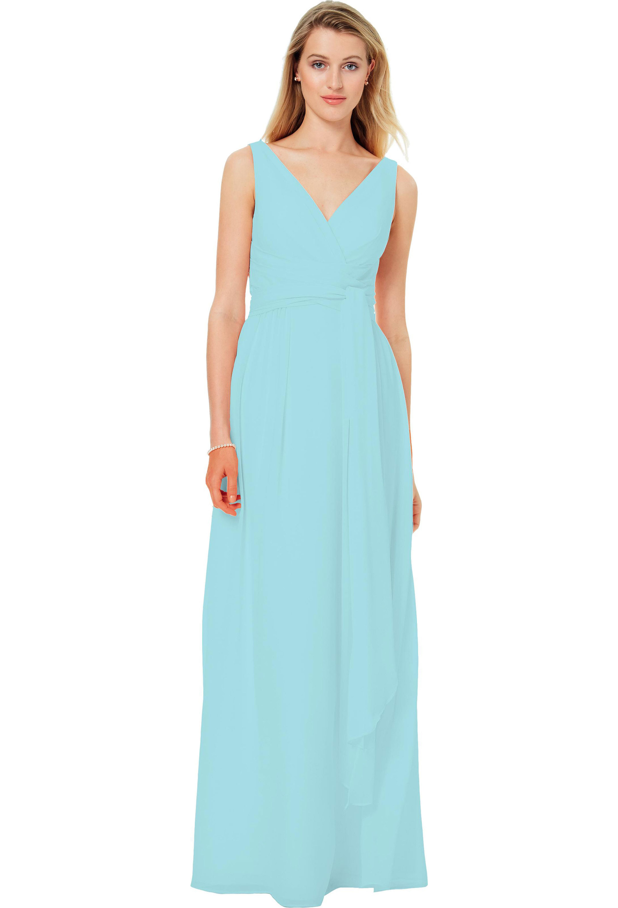 Bill Levkoff GLACIER Chiffon Sleeveless A-line gown, $220.00 Front