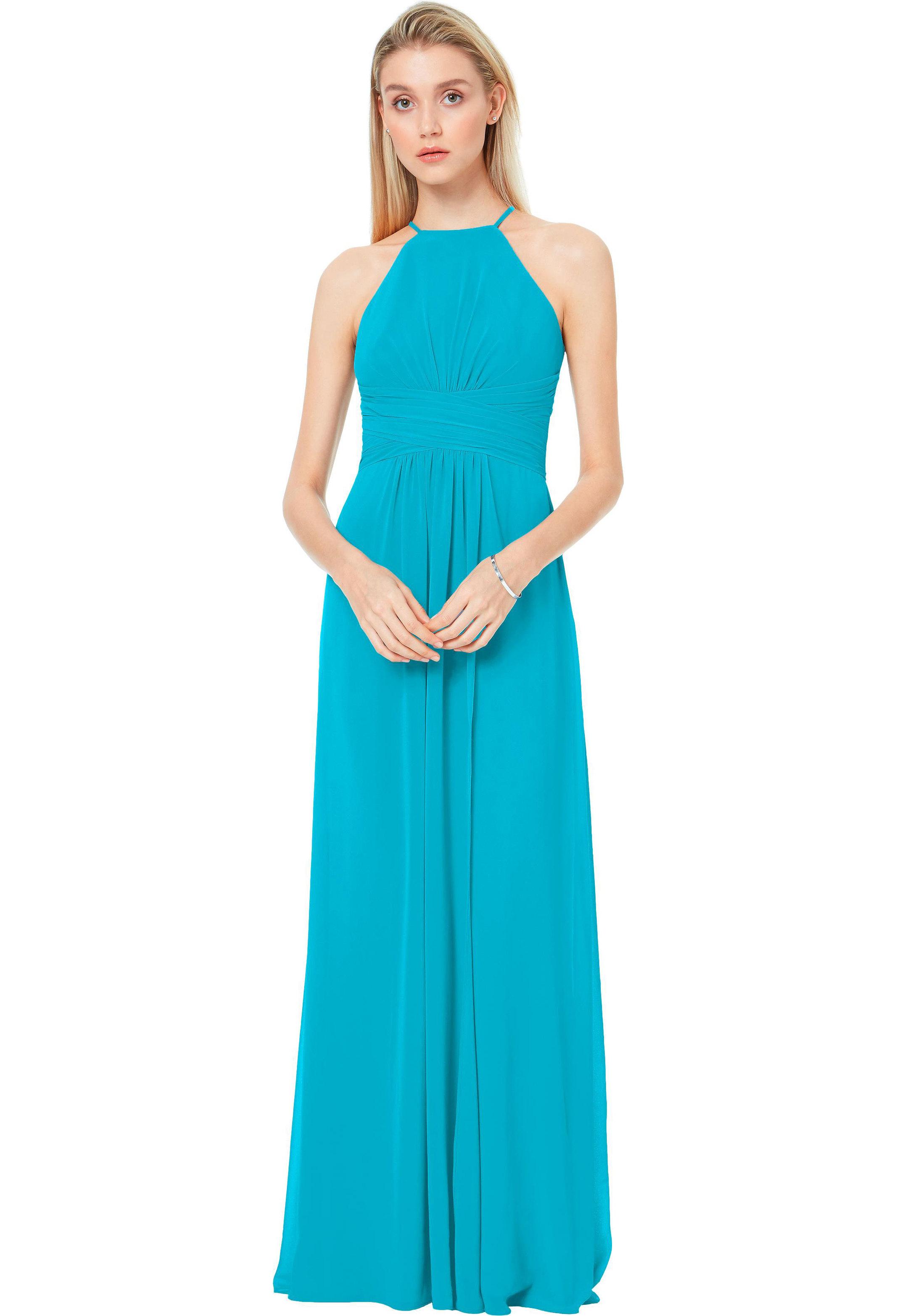 Bill Levkoff OASIS Chiffon Spaghetti Strap A-line gown, $200.00 Front