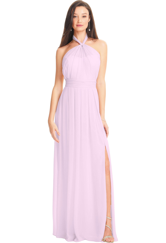 Bill Levkoff HEATHER Chiffon Illusion A-line gown, $210.00 Front