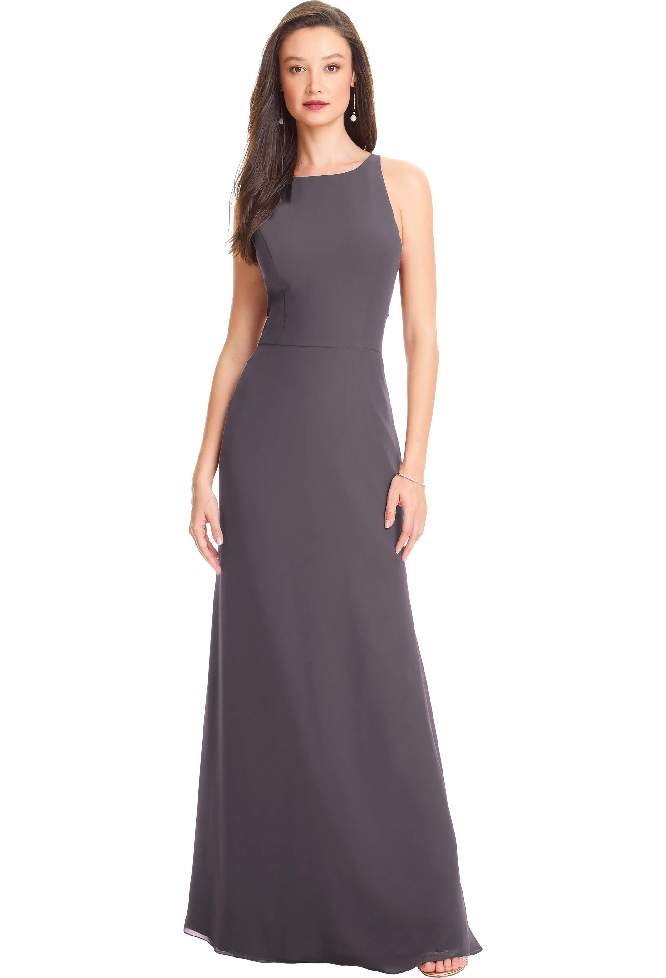 Bill Levkoff HEATHER Chiffon Sleeveless A-line gown, $210.00 Front