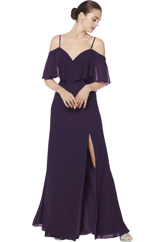 Bill Levkoff PLUM Chiffon Sweetheart A-line gown, $210.00 Front