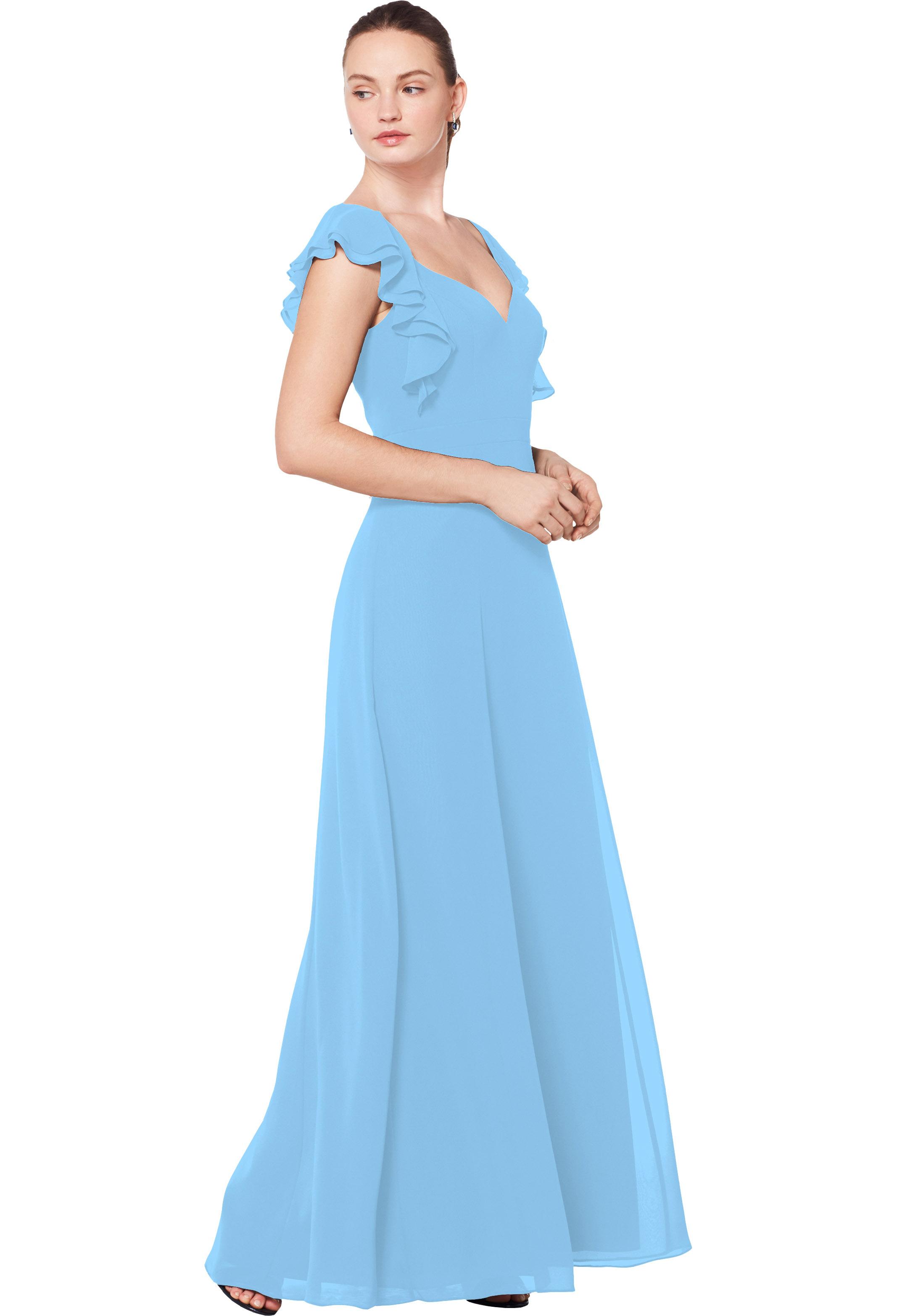 Bill Levkoff CAPRI Chiffon Sweetheart A-line gown, $210.00 Front