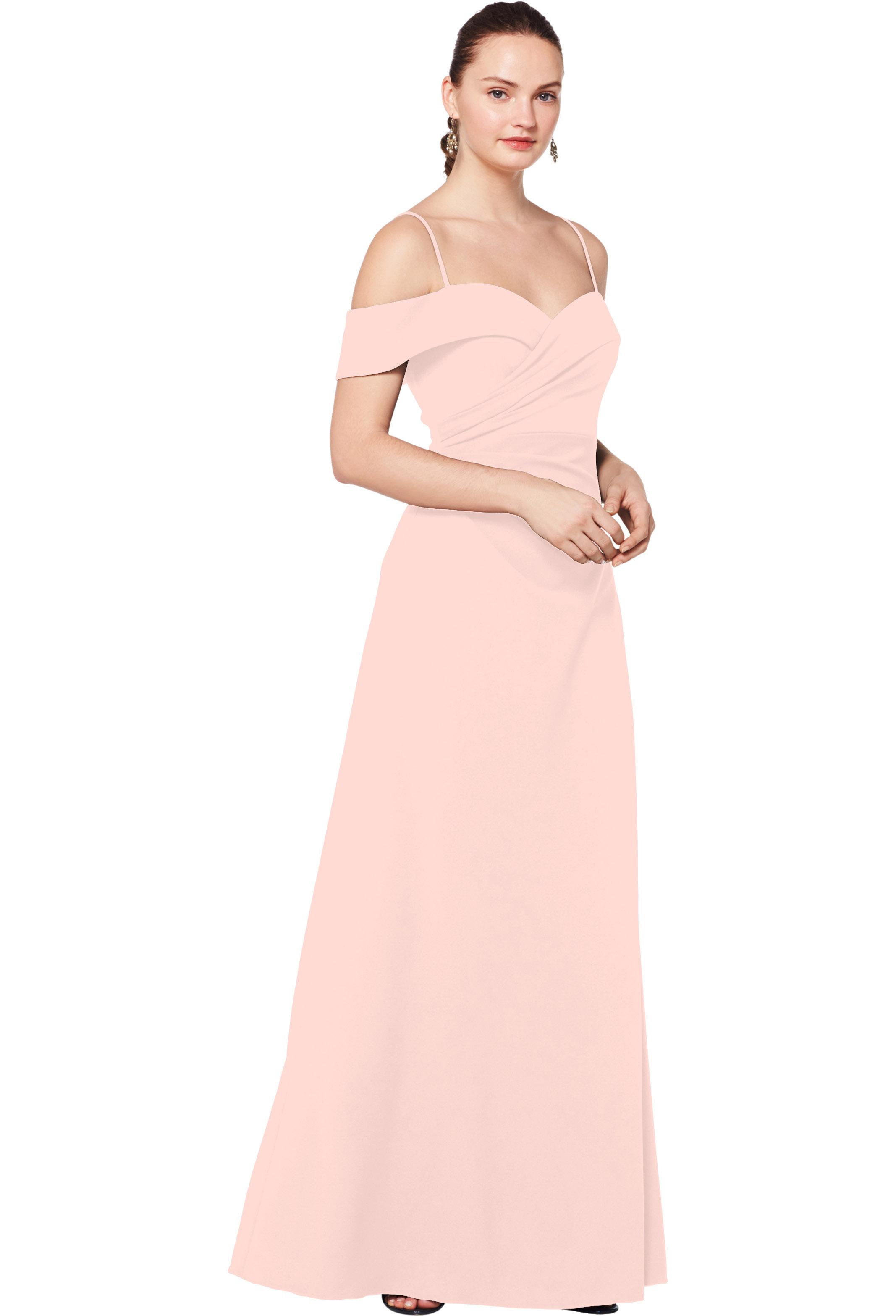 Bill Levkoff BALLET Stretch Crepe Off The Shoulder A-line gown, $230.00 Front