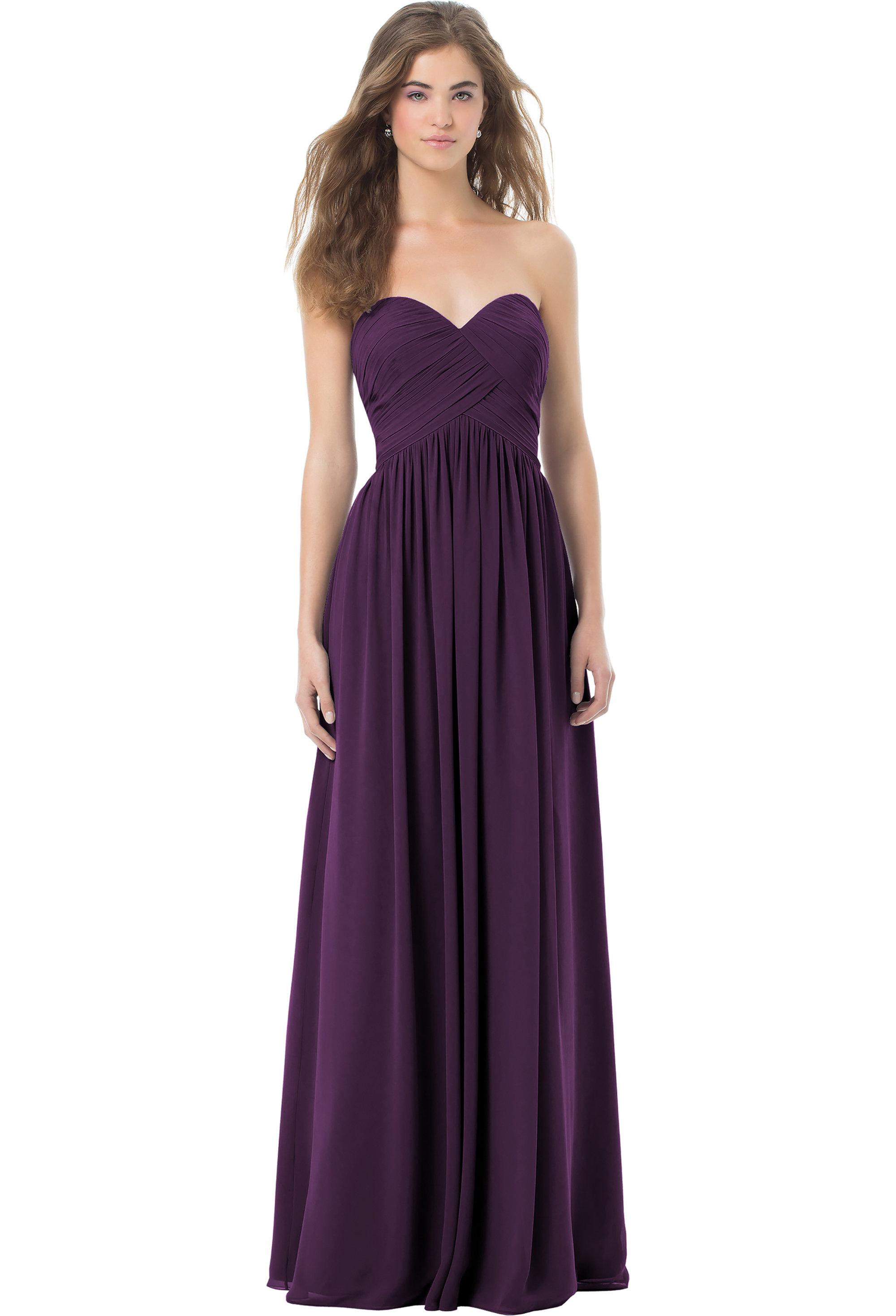 Bill Levkoff PLUM Chiffon Sweetheart A-line gown, $224.00 Front