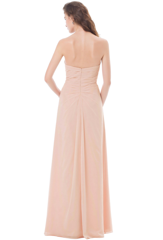 Bill Levkoff PEACH Chiffon Sweetheart Asymmetrical gown, $224.00 Back