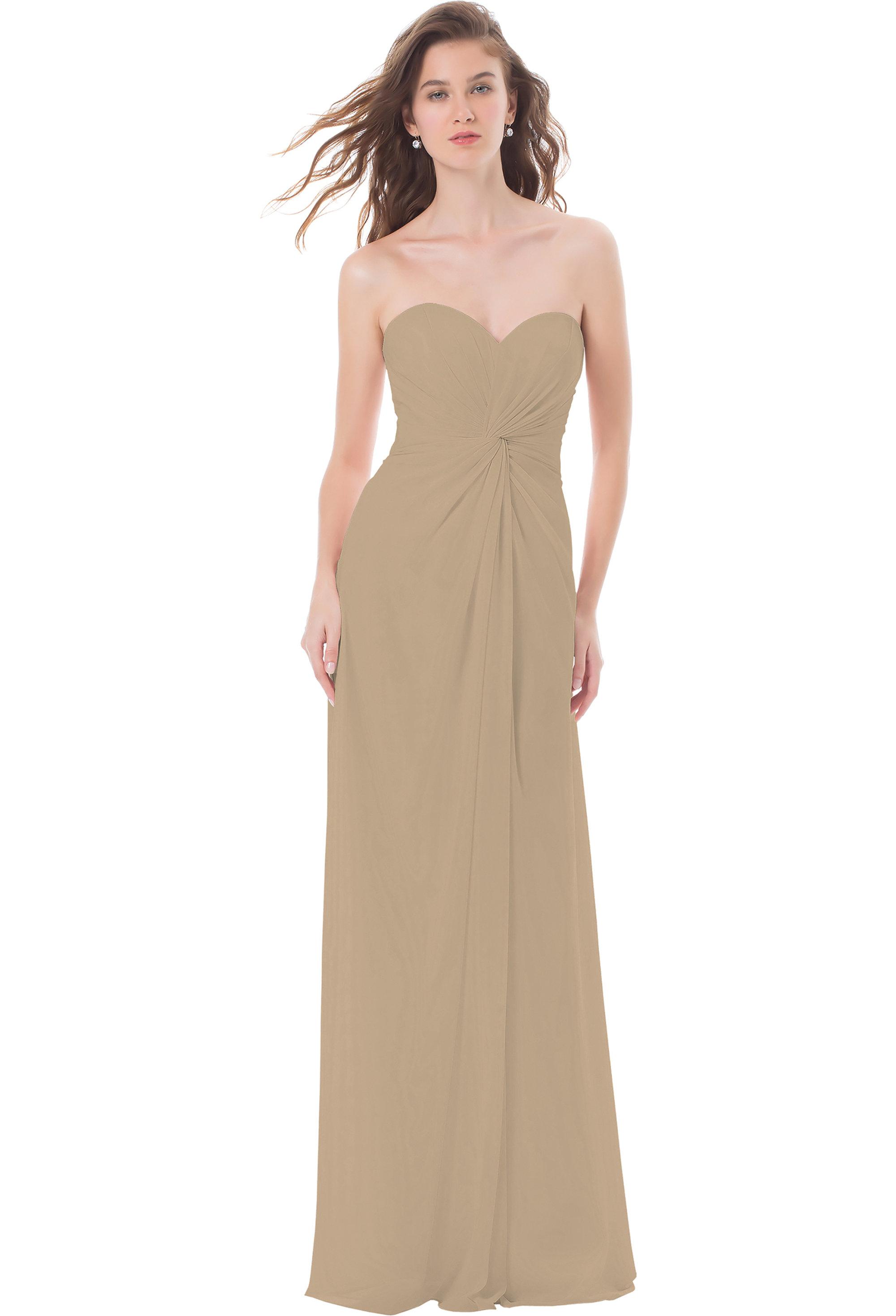 Bill Levkoff CASHMERE Chiffon Sweetheart Asymmetrical gown, $224.00 Front