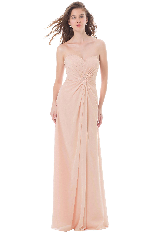 Bill Levkoff PETAL PINK Chiffon Sweetheart Asymmetrical gown, $224.00 Front