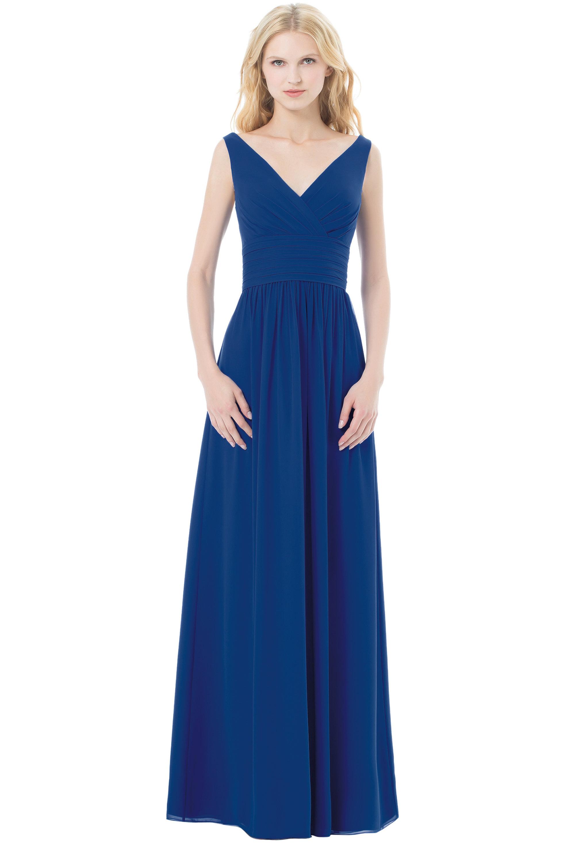 Bill Levkoff HORIZON Chiffon Sleeveless A-line gown, $220.00 Front