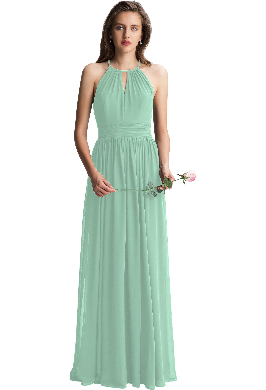 Bill Levkoff MINT Chiffon Keyhole A-line gown, $150.00 Front