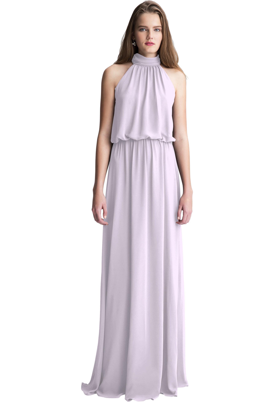Bill Levkoff VIOLET Chiffon Halter A-line gown, $150.00 Front
