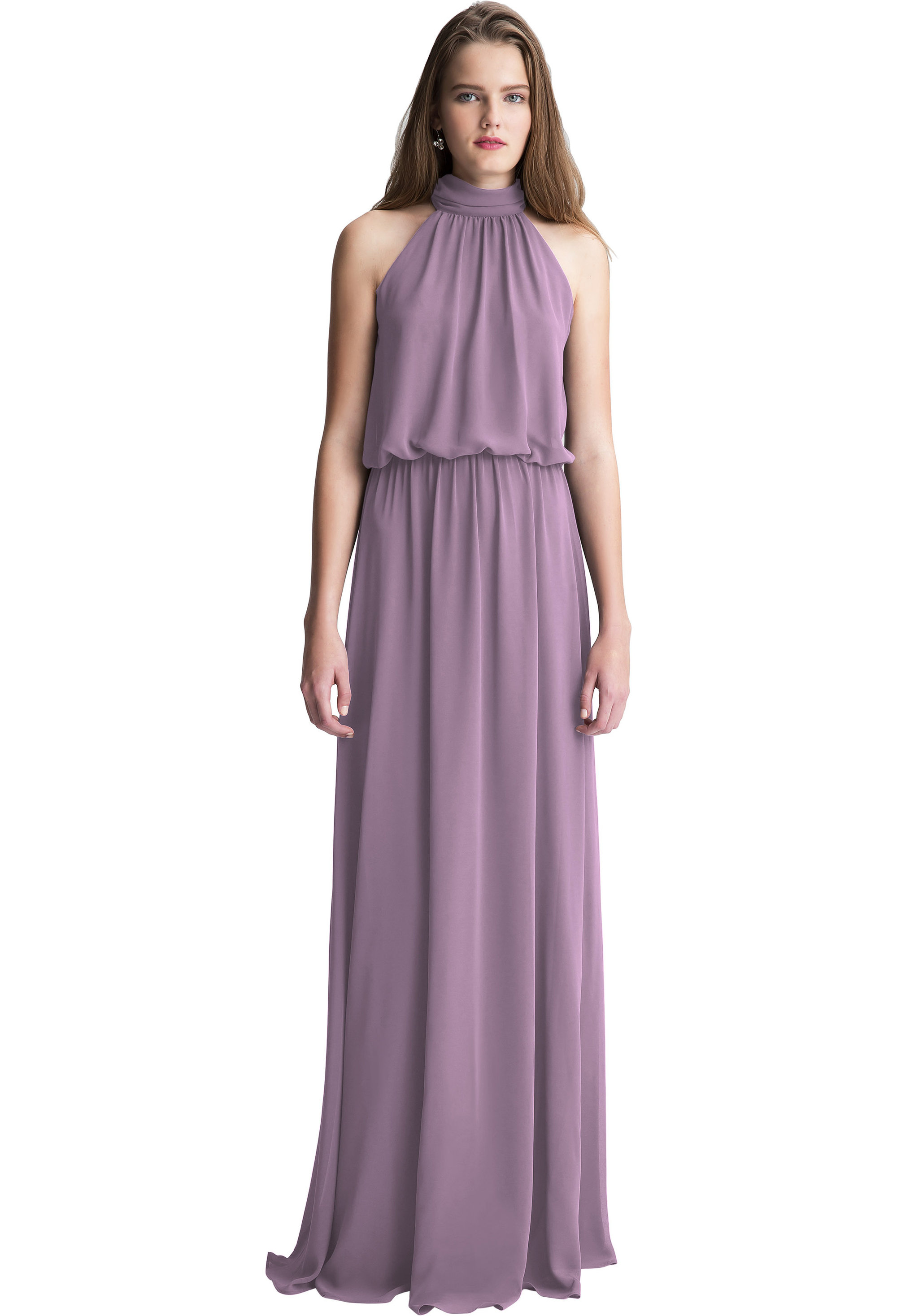 Bill Levkoff VICTORIAN LILAC Chiffon Halter A-line gown, $150.00 Front
