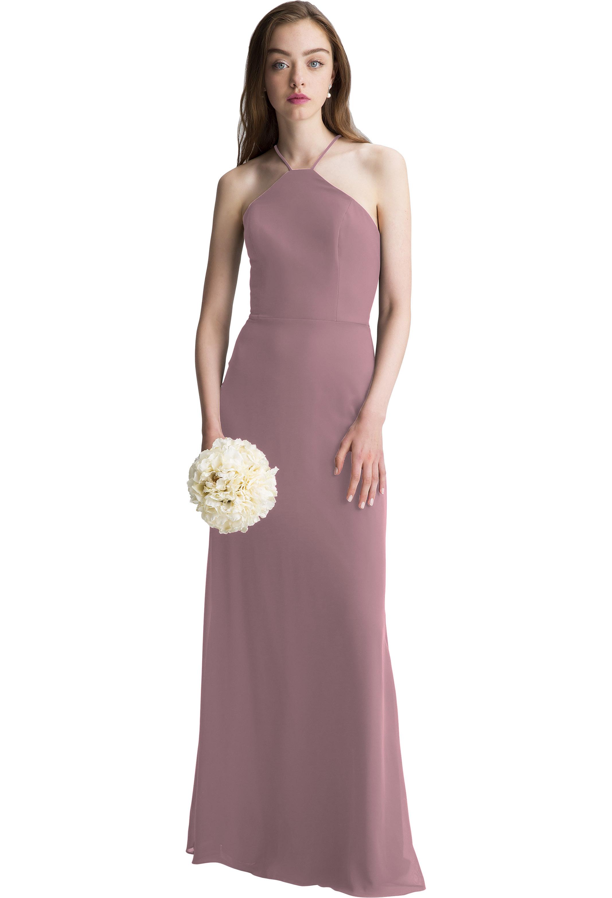 Bill Levkoff WISTERIA Chiffon Halter A-line gown, $150.00 Front