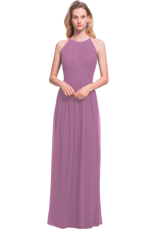 Bill Levkoff WISTERIA Chiffon Jewel A-line gown, $170.00 Front
