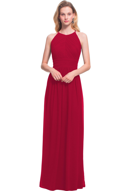 Bill Levkoff CRANBERRY Chiffon Jewel A-line gown, $170.00 Front