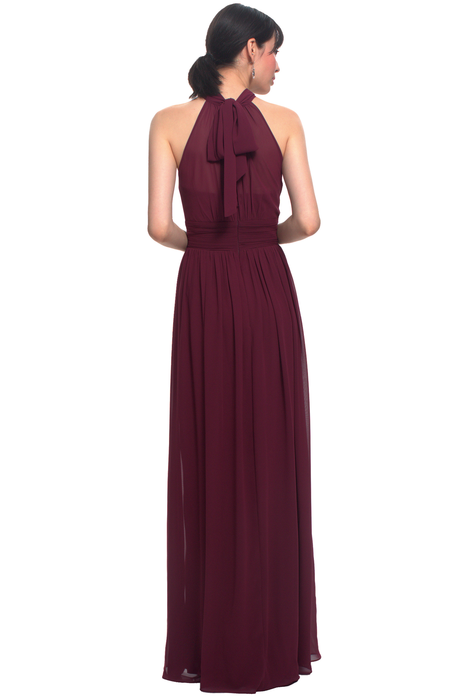 Bill Levkoff HORIZON Chiffon Illusion Side Slit gown, $170.00 Back