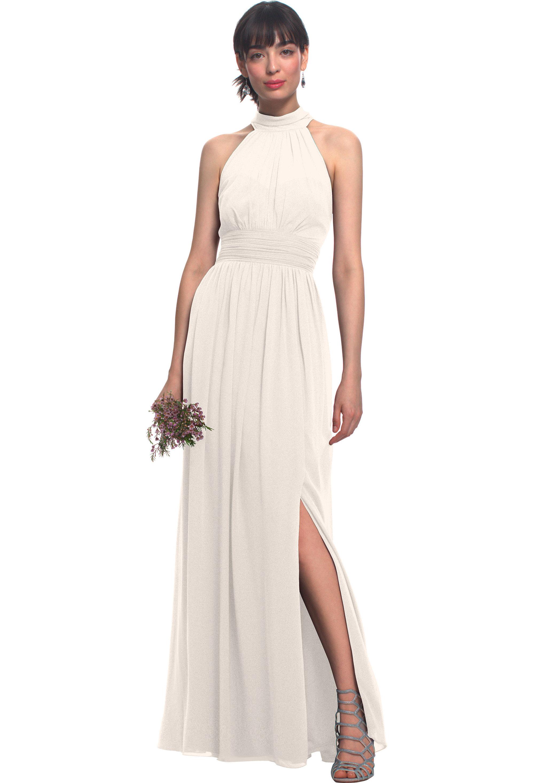 Bill Levkoff IVORY Chiffon Illusion Side Slit gown, $170.00 Front