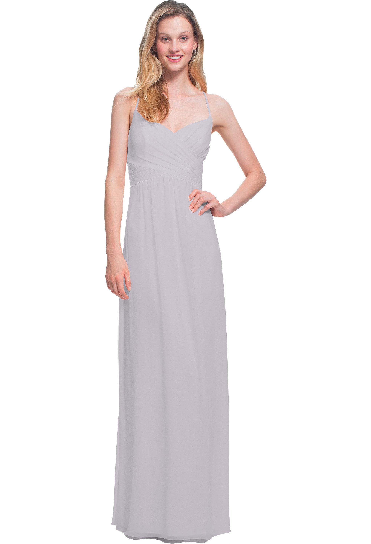Bill Levkoff VIOLET Chiffon V-neck A-line gown, $170.00 Front