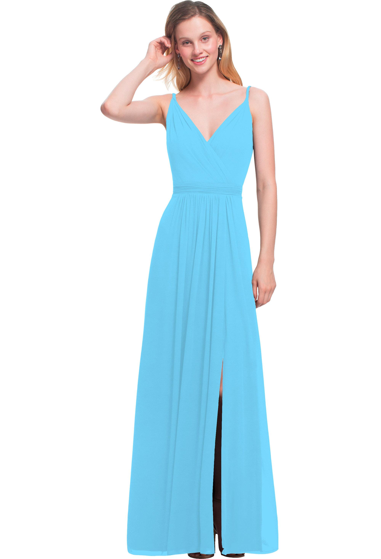 Bill Levkoff CAPRI Chiffon V-neck A-line gown, $164.00 Front
