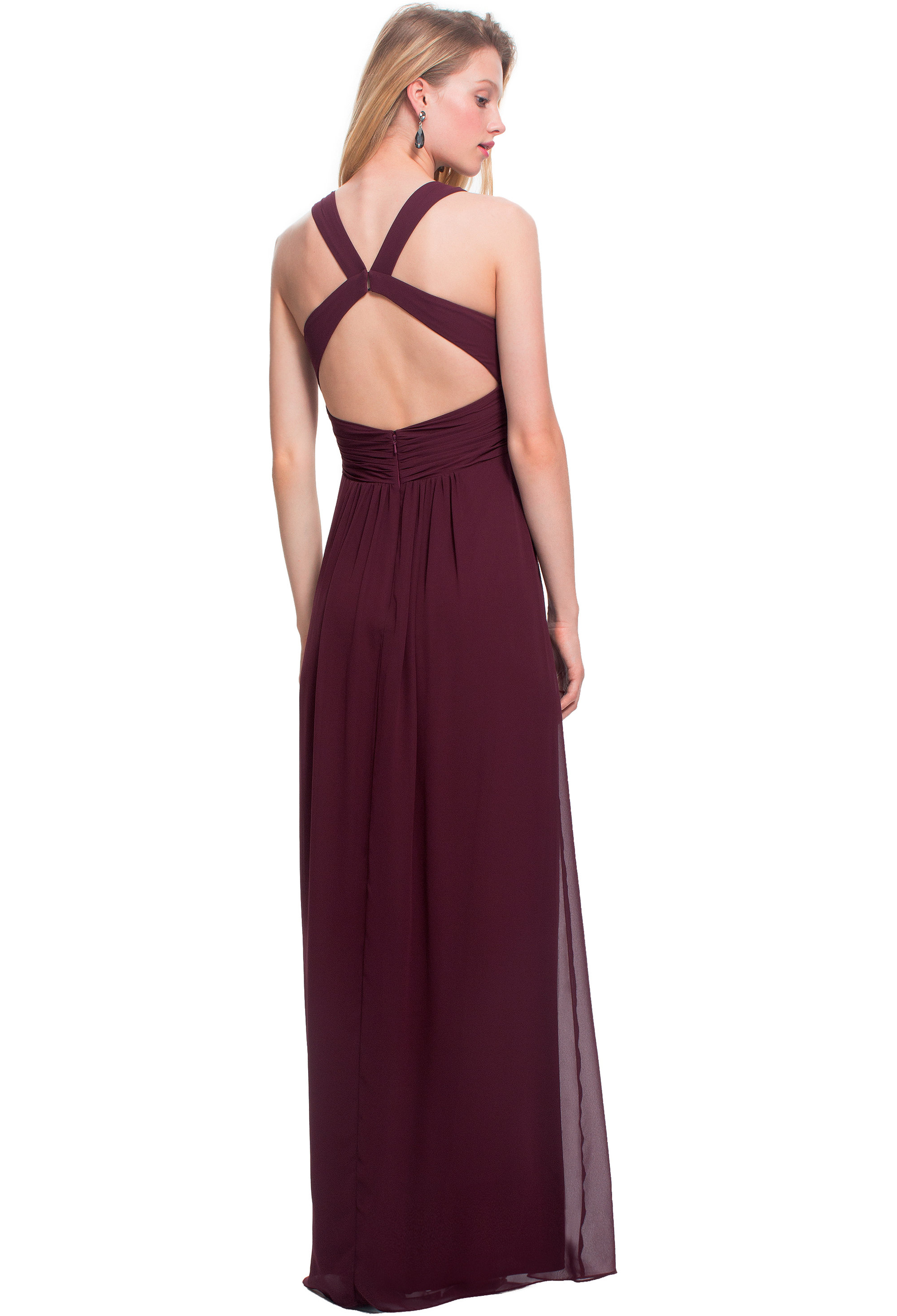 Bill Levkoff REGENCY Chiffon Sleeveless A-line gown, $178.00 Back