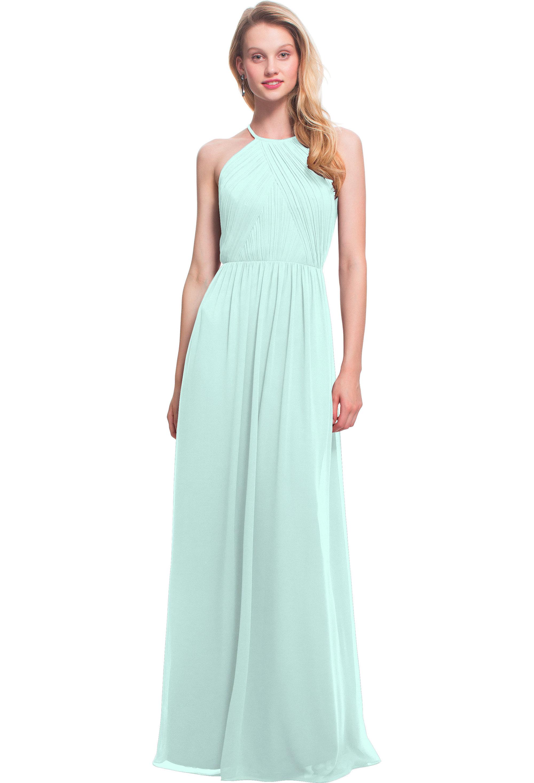 Bill Levkoff MINT Chiffon Jewel A-line gown, $170.00 Front