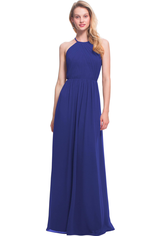 Bill Levkoff MARINE Chiffon Jewel A-line gown, $170.00 Front
