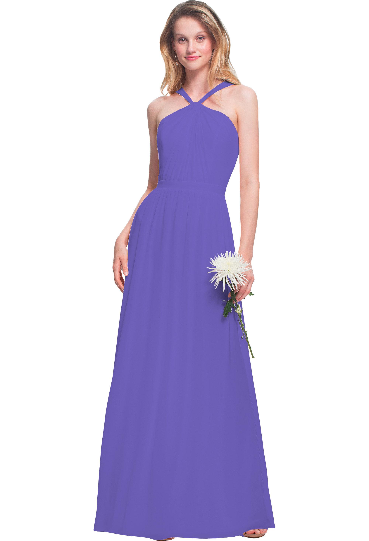 Bill Levkoff REGENCY Chiffon Halter A-line gown, $170.00 Front