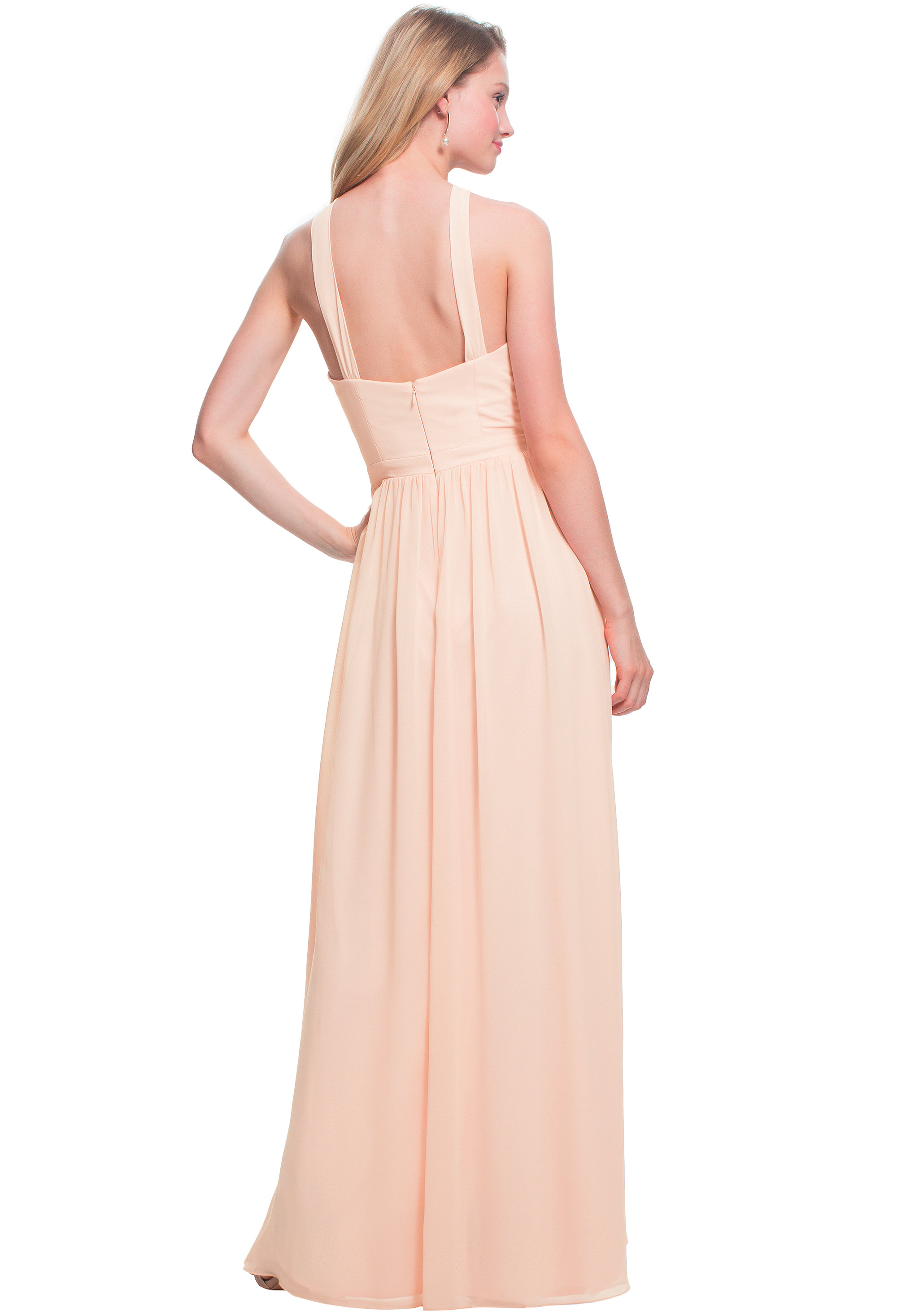 Bill Levkoff OASIS Chiffon Halter A-line gown, $170.00 Back