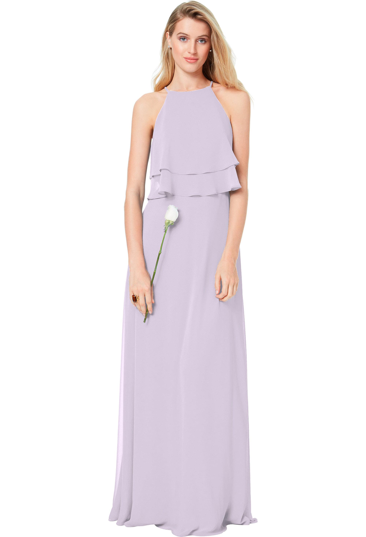 Bill Levkoff VIOLET Chiffon Spaghetti Strap A-line gown, $174.00 Front